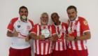 Equipe do Bangu: Carlos Alberto, Marcelo Coutinho, Ricardo e Wanderson.