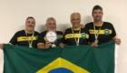 Seleção Brasileira campeã no sectorball: Toninho (Portuguesa), Marcelo Coutinho (Bangu), Pedro (Portuguesa) e Paulão (Vasco).